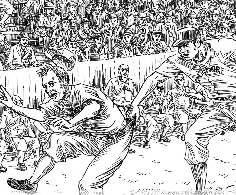 Artwork: The Ballpark Brawl: Detail