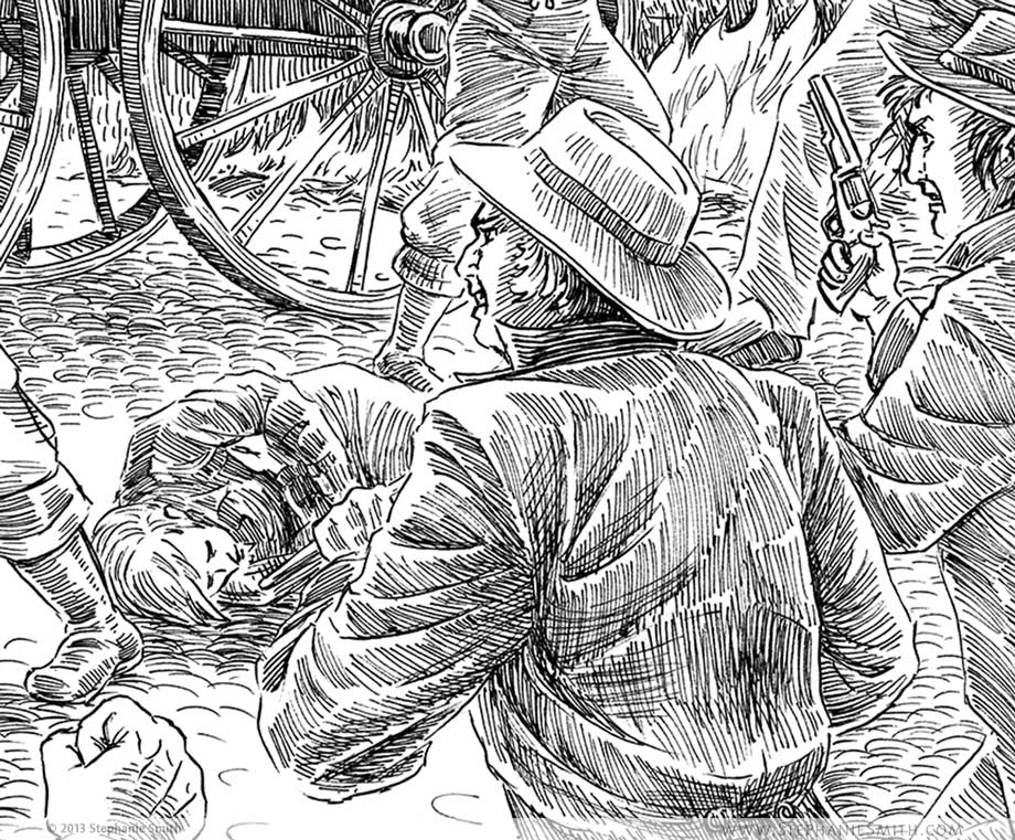 Artwork: The Firehouse Brawl: Detail