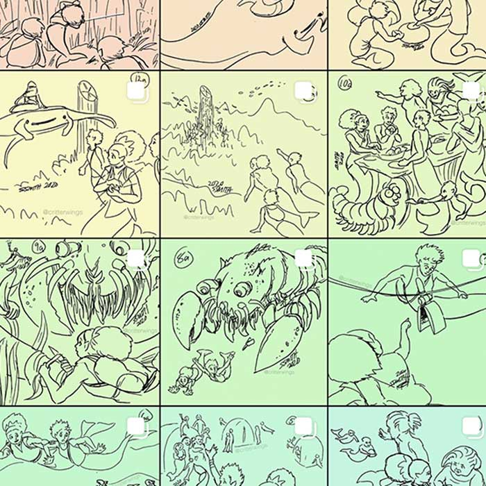 Sketchbook: Trillia's Quest storyboards